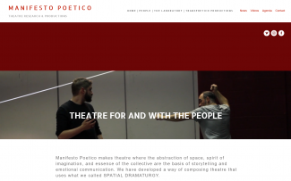 ScreenShot of Manifesto Poetico Website